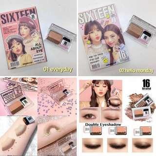 sixteen brand eyeshadow