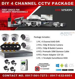 DIY 4CH CCTV PACKAGE SALE