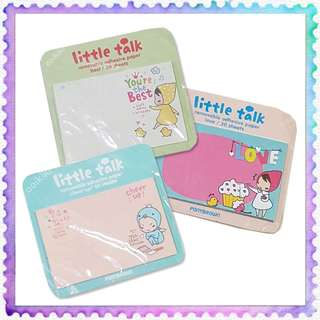 Ponybrown Little Talk Removable adhesive Paper Mini Memo Sticky Pad 30 sheets