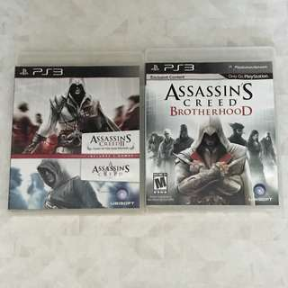 PS3 Assassin's Creed 1-2 and brotherhood