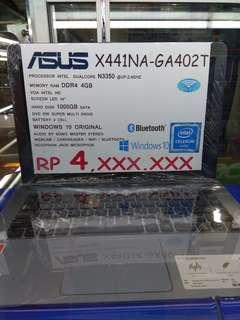 Kredit Laptop Asus X441NA DP 620.000 Cukup KTP+SIM/KK saja
