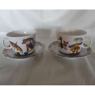 Lomonosov Porcelain Tea Set 'Circus'