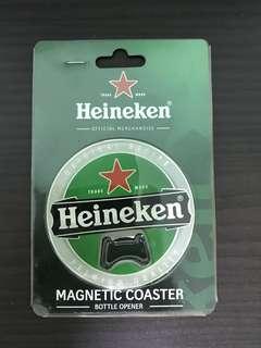 Heineken Magnetic Coaster Bottle Opener