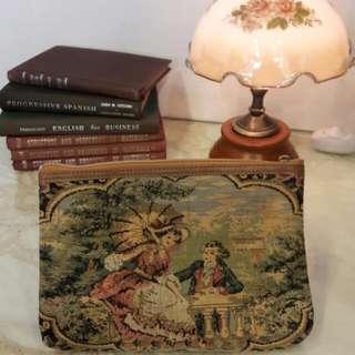 歐式古典織錦 古董包 手袋