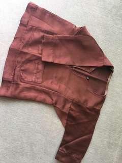 Baju melayu brown