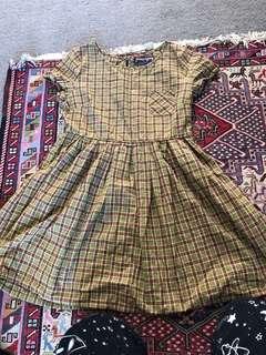Princess highway Kharki check dress