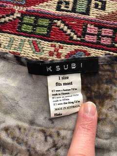 Ksubi 100% silk oversized t shirt