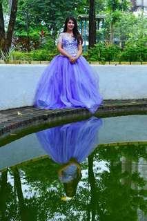 Plus size Gown with Petticot