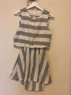 🚚 條紋洋裝(9成新)