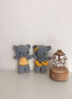 🐱Amigurumi Little Grey Cats ( Set of 2) 🐈