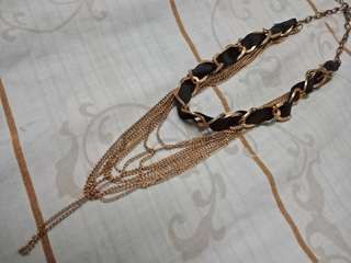 Fashion Necklace (black and bronze)