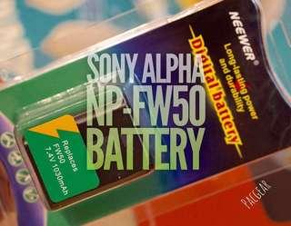 NP-FW50 Extra Battery for Sony Alpha Cameras a7 a7R a7S a5100 a6000 a6300 a6500 nex-7 a7Sii a7ii
