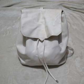Pull & Bear backpack (white)