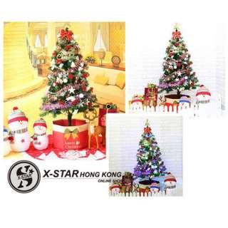 s138257 1.5米聖誕樹套裝 帶彩燈連裝飾 聖誕節佈置裝飾派對