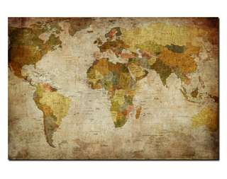 World Map Custom print Size large sizing available