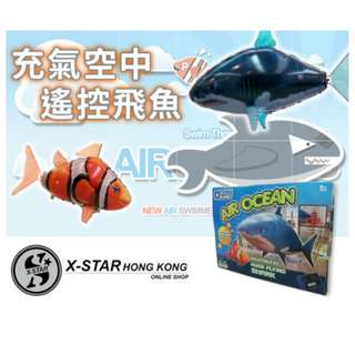 s138191 遙控 吹氣鋁膜鯊魚 氦氣球 派對用品佈置 生日 PARTY