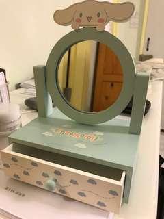 珍藏 玉桂狗 鏡 化妝小盒