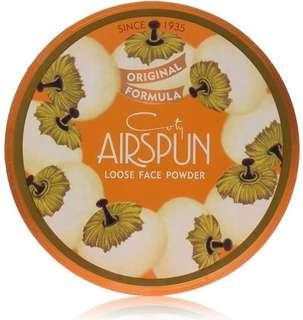 Airspun loose face powder