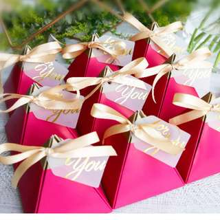 Shocking Pink Ferrero Rocher Wedding Favors