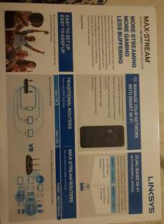 Excellent linksys brand new router never used