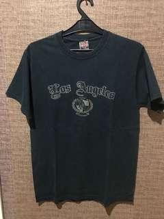 Los angeles LA T shirt baju kaos warna biru dongker