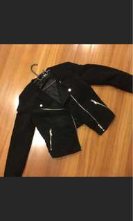 H&M Suede Biker Jacket (Reduced)