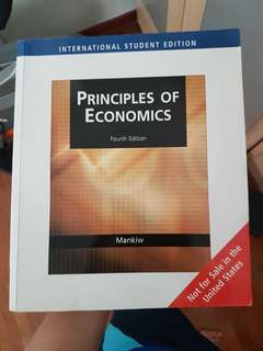 HE9091 Principles of Economics, Mankiw 4th edition