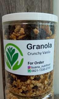 Granola crunchy vanilla