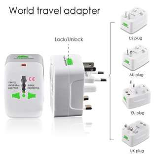 Universal Travel Adaptor - Colokan Steker Listrik Multi International - Putih