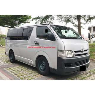 11 Seaters Mini Bus for charter / hire bus
