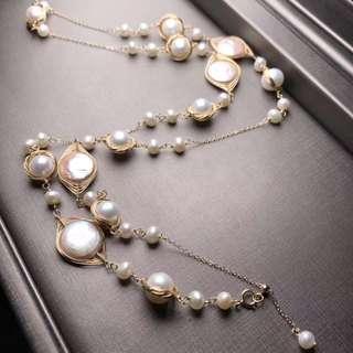 純天然巴洛克珍珠項鍊