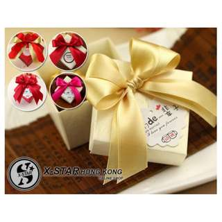 s138036-s138040 雙蝴蝶結回禮盒 婚宴小禮物婚禮結婚喜糖盒滿月百日宴