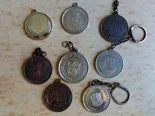 不同學校獎牌9個