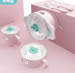 BN Baby feeding Set 5's ( baby tablewares set)
