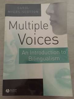 [Linguistics Textbook] Multiple Voices: An Introduction to Bilingualism by Carol Myers-Scotton