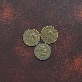🚚 43年5角銅幣3枚