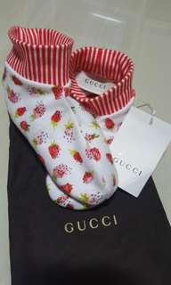 Authentic Gucci Strawberry Print Bootie