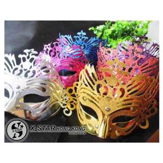 s138196-s138200 皇冠面具5色入 派對舞會 生日派對 佈置用品