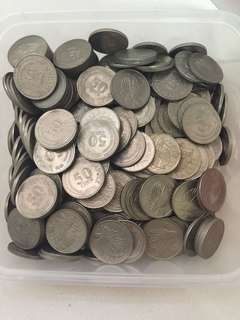 First edition of 50cent coins (Lot of 347 pieces)