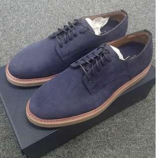 【限時勁減】!Cole Haan海軍藍色Tanner Plain牛津磨砂皮鞋