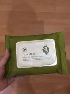 olive teal cleansing tissue