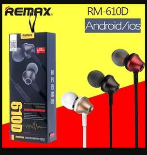 Remax RM-610D 3.5mm In-Ear Mic Headset for iPhone Xiaomi Android Phones