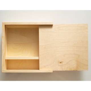 Sliding wooden gift box
