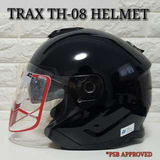Trax TH-08 Black Helmet