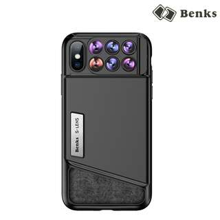 iPhone X Benks 趣拍六合一 手機特效鏡頭 廣角 魚眼 微距鏡 保護套 手機殼 0576A