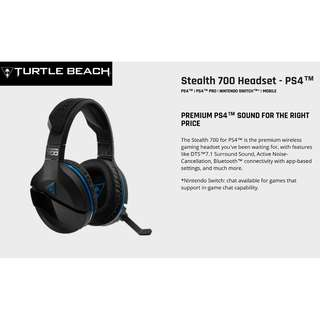 TurtleBeach EP-TB700P Stealth 700P PS4/PC GAMING HEADSET