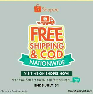 SHOPEE COD AND FREE SHIPPING!! 🎉