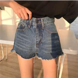 夏天必入/簡約基礎感高腰顯腿長牛仔短褲