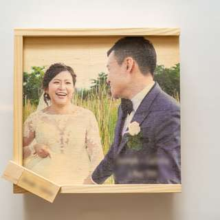 Wooden Square sliding gift box