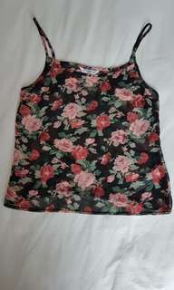 Floral spagetti top